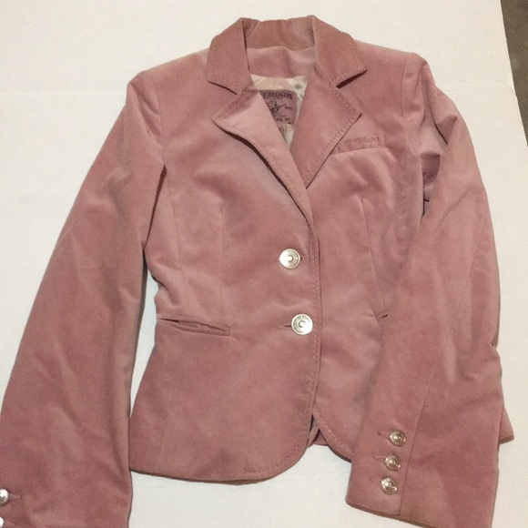 True Religion Jackets & Blazers - True Religion Pink Blazer jacket Size XS.